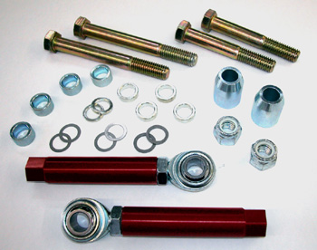 MM Tie-Rod Kit, 1979-93, aftermarket K-member (bolt-through)